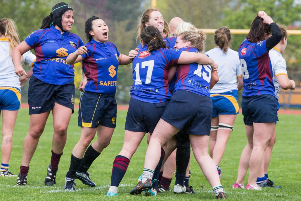 A Senior Women's Team Celebrates Victory