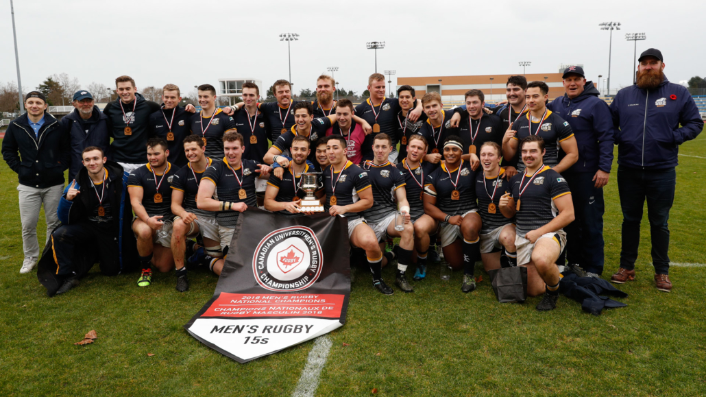 UBC's 2019 Men's Rugby CRC Champions