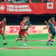 Canada's Men's Sevens in action against Spain in Vancouver