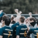 TWU Spartans celebrate during training